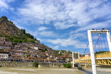 Bridge to downtown Berat, Albania.