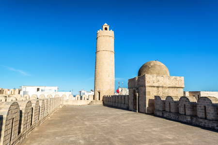 Tower of the ribat, a small fortress, in Sousse, Tunisia