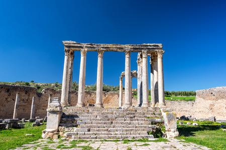 Temple of Juno Caelestis in the Roman ruins of Dougga, Tunisia Reklamní fotografie