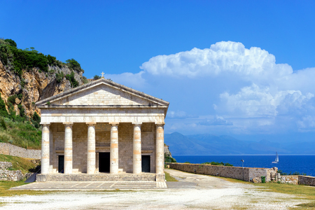 The Church of St. George in the Old Fortress in Corfu, Greece.