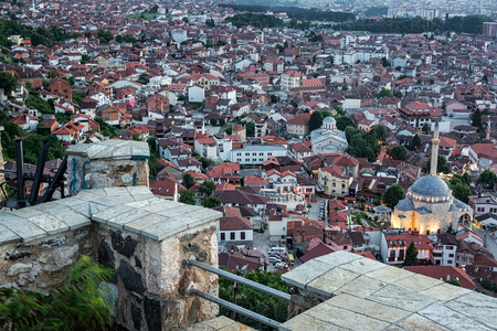 Looking down from the ramparts of Prizren Fortress in Prizren, Kosovo