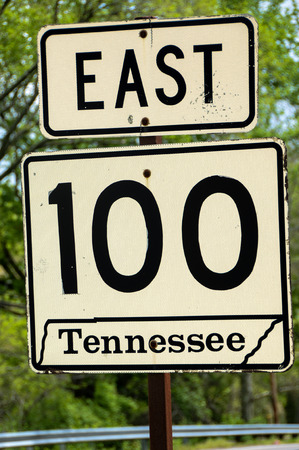 Tennessee road sign Stock fotó