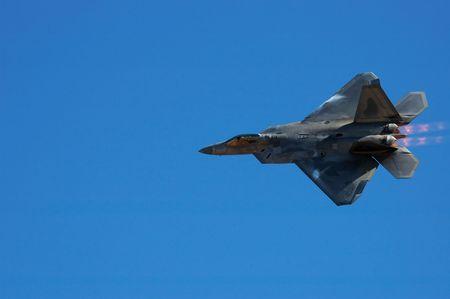 raptors: Image of F-22 Raptor during airshow