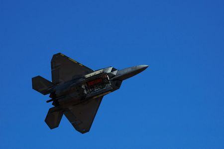 raptor: Image of F-22 Raptor during airshow