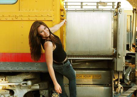 Image of young beautiful caucasian female Stock Photo