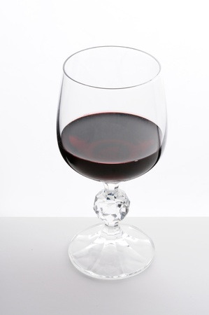 Close up image of wine in a glass