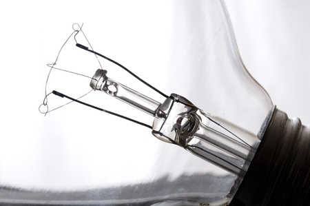 Close up isolated image of light bulb Stock Photo