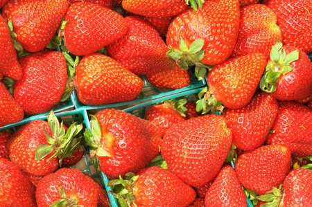 Image of strawberries in a box Stock Photo