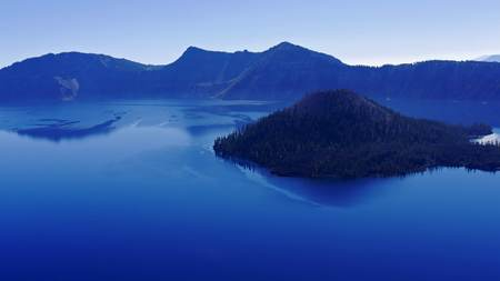 Crater Lake, Oregon, with Wizard Island Stock fotó