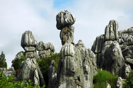magnificent stone shape spotted in stone forest in China photo