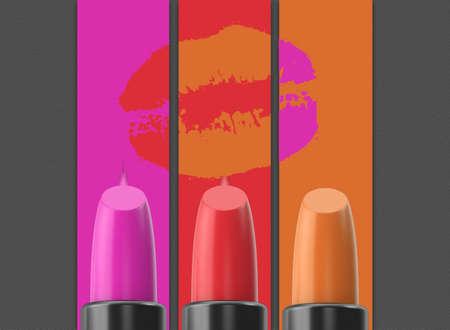 cosmetics lipsticks Reklamní fotografie