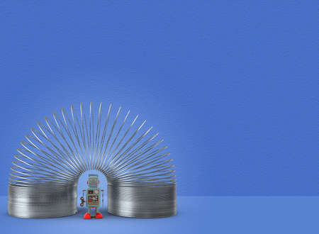 childrens toys slinky with robot