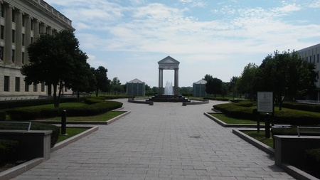 Trenton NJ USA - August 17 2017 - Confluence Fountain