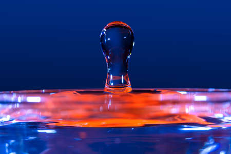 figures and shapes of water produced by splash photographed very closely with selective focus