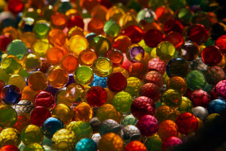 colored balls with cell shapes inside and illuminated that give a unique and mesmerizing effect.