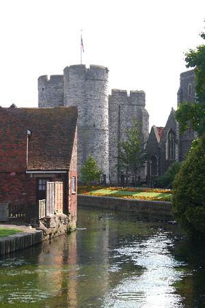 canterbury: Ch�teau de Canterbury, Canterbury, Royaume-Uni Banque d'images