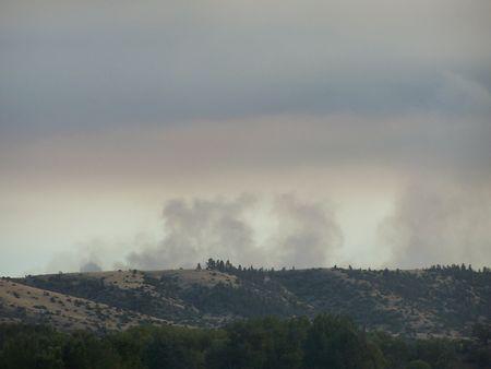Rook uit een Montana Fire