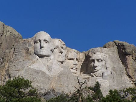 dakota: Mt. Rushmore South Dakota Stock Photo