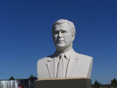 George Bush Sculpture Reklamní fotografie