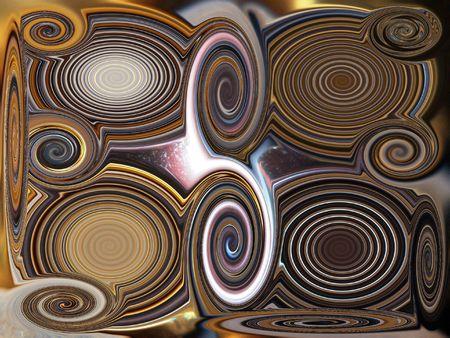 metalic: Metalic swirls Stock Photo