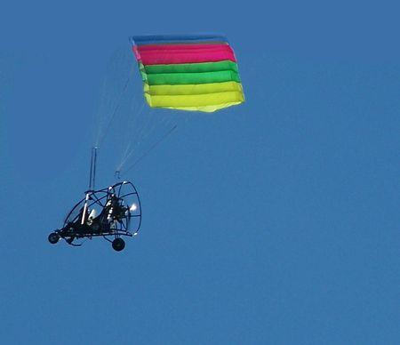 Flying parasail machine