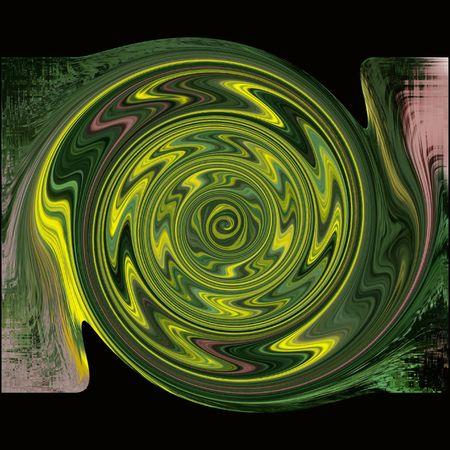 Green and Yellow swirl