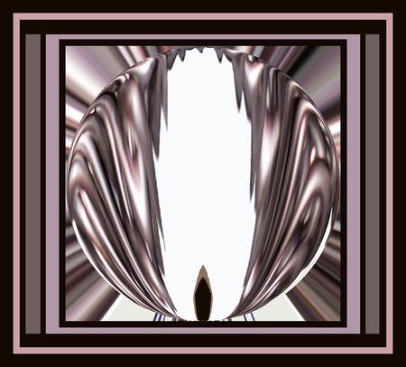 Metal Abstract Frame Reklamní fotografie