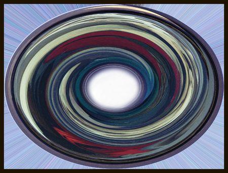 red swirl: Astratto blu e rosso a forma di girandola