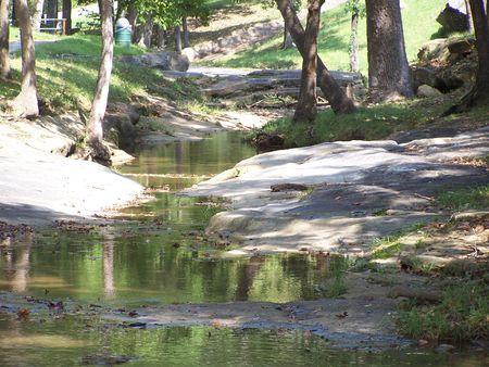 Brook at a roadside park in Missouri Reklamní fotografie