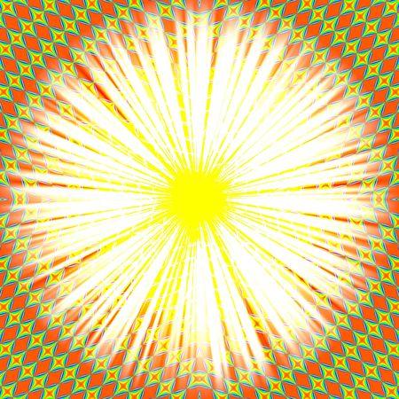 logo couleur: Marguerite blanche et jaune � l'orange r�sum� graphique de base que j'ai cr�� sur un ordinateur Banque d'images