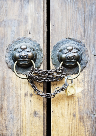 Old door knocker photo