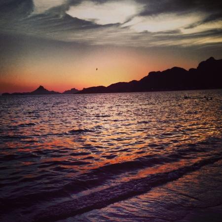 sonora: A sunset on Sea of Cortez Sonora Mexico. Stock Photo