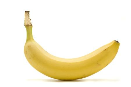 banane: Une banane isol�e sur fond blanc. Banque d'images