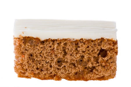 sallow: Sweet Carrot Cake  isolated on white background  Sallow depth of field
