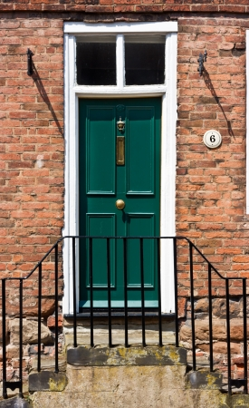 front view of Victorian town house doorway. photo