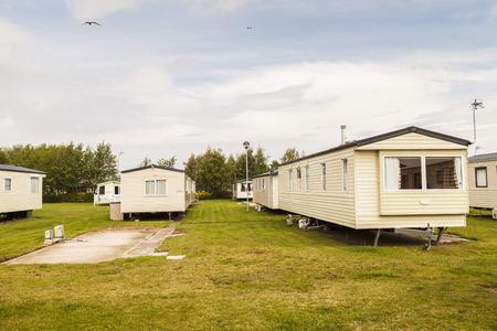 u k: Static caravan holiday homes at a U  K  holiday resort