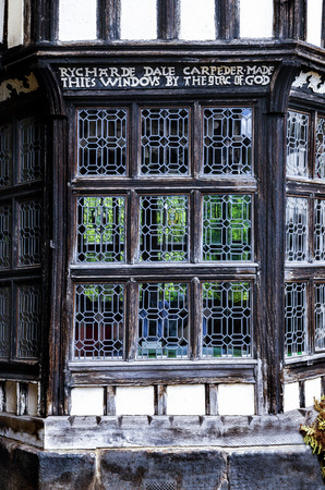 16th century: Tudor bay window built by Rycharde (Richard)Dale in the 16th century