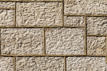 morter: Muro costruito nel 1856. La muratura � un tipo di calcare da Llanddulas North Wales Gran Bretagna