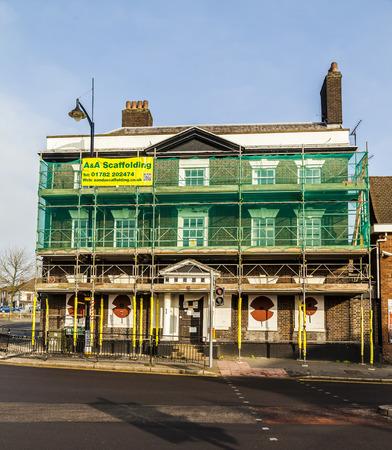 place of interest: The Wedgwood Big House former home of potter Josiah Wedgwood undergoing major repair work Burslem, Stoke on Trent, Staffordshire