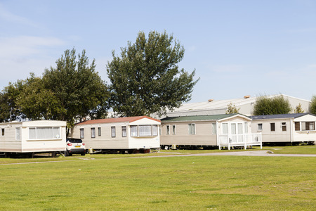 static: Prestatyn, North Wales, United Kingdom. September 10 2015: Typical British static caravan holiday park Wales Clwyd Editorial