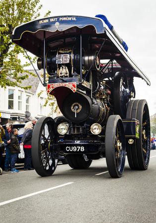 Llandudno, North Wales- 29th April 2017:  Tourists  enjoy parade of  large powerful road locomotives. Hero View