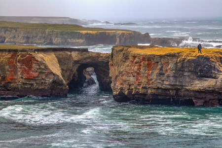 A tunnel formation made by the Pacific Ocean, at the beautiful California Coastline in Mendocino County photo