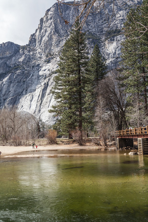 Yosemite National Park, granite cliffs, rivers, waterfalls, domes and the beautiful landscape formed by glacier. A Must see travel destination.