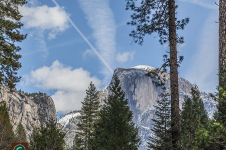 granite park: Yosemite National Park, granite cliffs, rivers, waterfalls, domes and the beautiful landscape formed by glacier. A Must see travel destination.