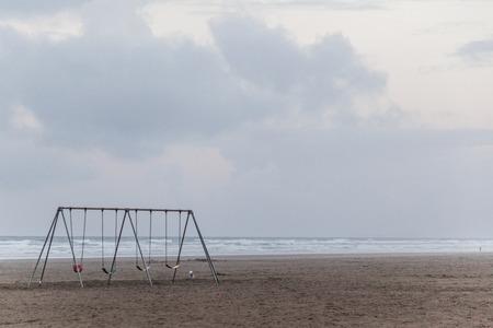 oceanside: a swing by the beach in the Oregon coastline