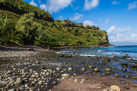 seascapes: Beautiful beaches and coastline of West Maui, Kihei, Lahaina, Kaanapali, Green vegetation, blue and green waters, warm weather, magnificent coast