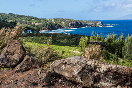warm weather: Beautiful beaches and coastline of West Maui, Kihei, Lahaina, Kaanapali, Green vegetation, blue and green waters, warm weather, magnificent coast