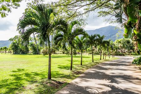 Maui Tropical Plantation, Hawaiis rich agricultural  working plantation in Waikapu. Stock Photo