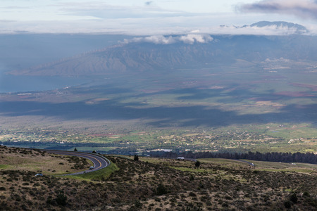 view of part of Maui Island from the Haleakala volcan