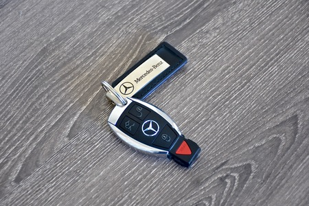 MARYLAND, USA   APRIL 10, 2016: A Mercedes Benz Key Fob Laying.. Stock  Photo, Picture And Royalty Free Image. Image 55986994.